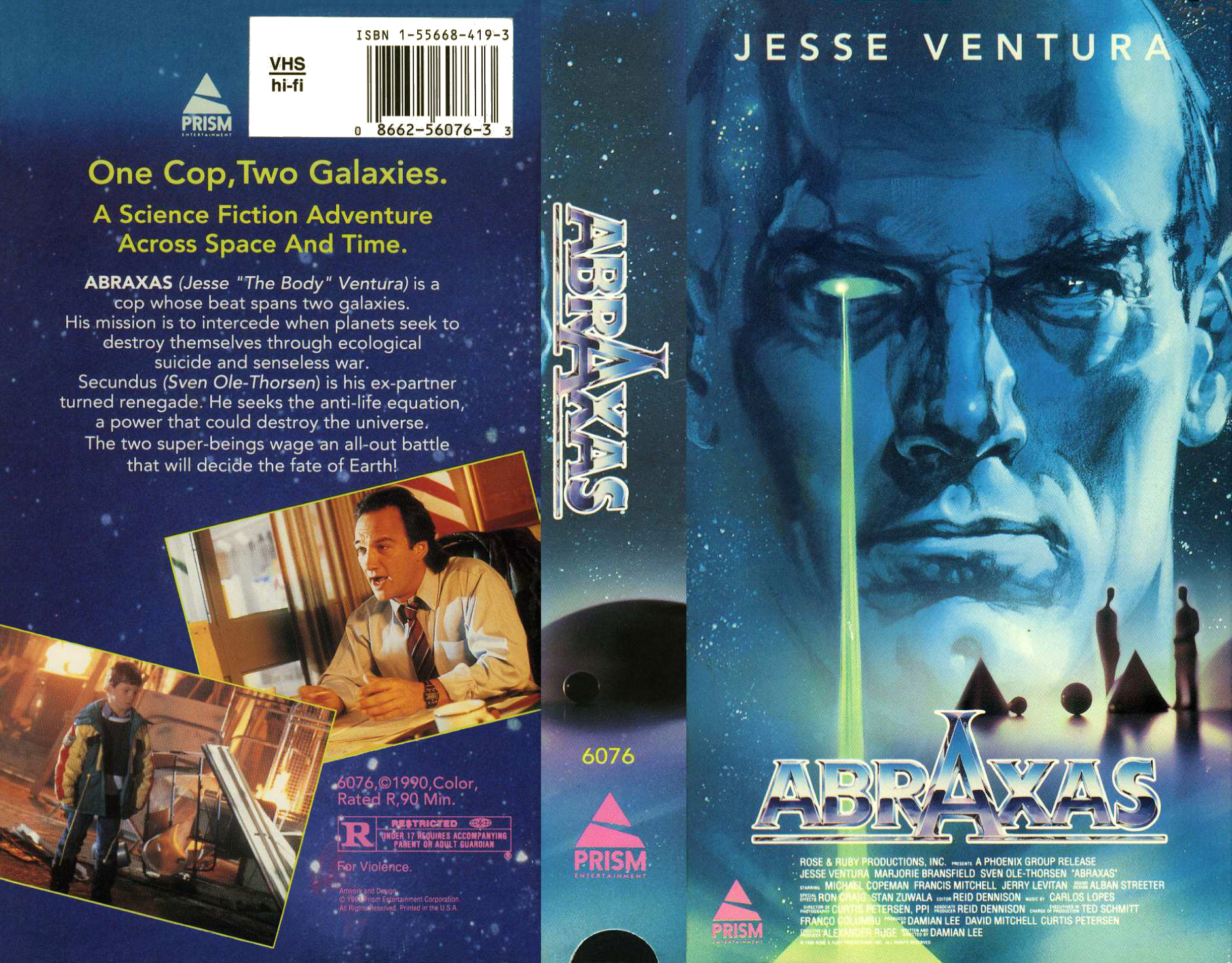 La grosse VHS d'Abraxas, seule copie officielle connue, chez Prism, qui a distribué des chefs d'œuvres comme Alienator.