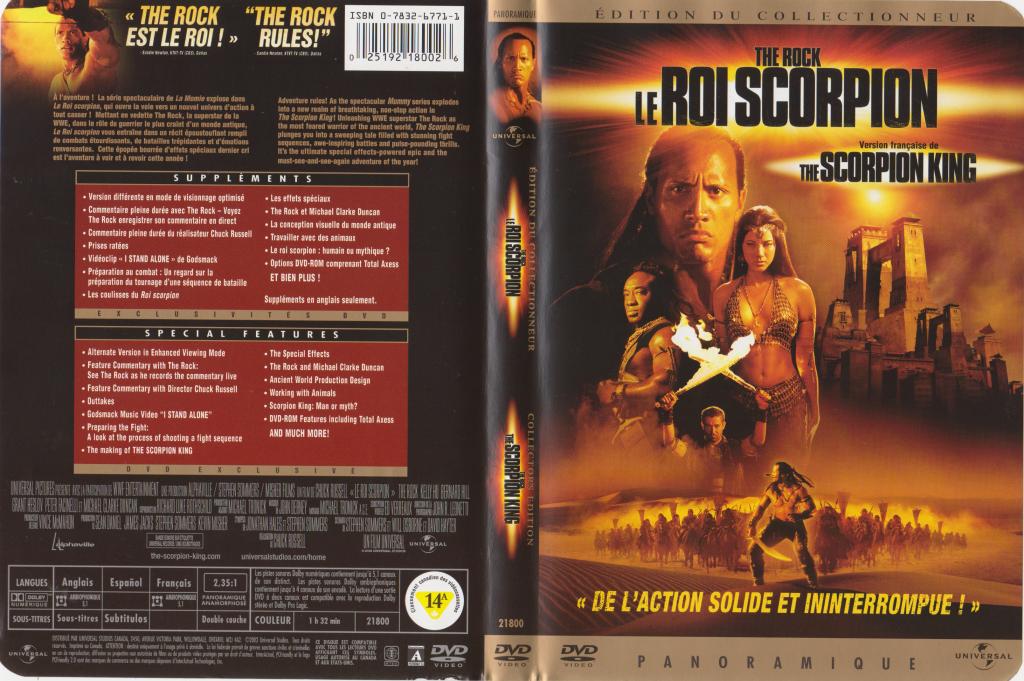 Comme vous pouvez voir sur ma pochette, The Rock a rapidement pris la tête de son propre film. À noter que sur la pochette de la Momie 2 aussi, c'est The Rock en bas avec son armée.