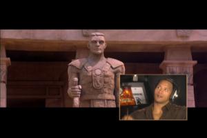 Comme ici il nous explique que les Égyptiens avaient déjà une statue en l'honneur de John Cena