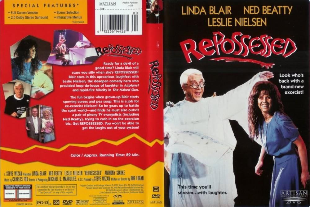 La pochette DVD de Repossessed. Cette version est plus difficile à trouver et ressemble parfaitement à la pochette VHS