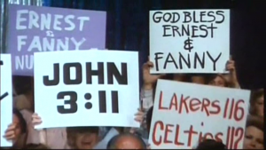 You talk about your John 3:11... Austin 3:11 says I just whipped your ass!