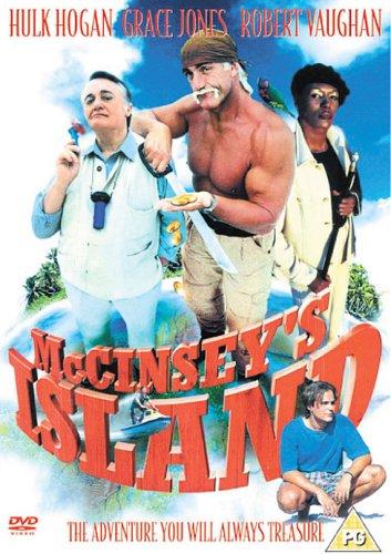 La pochette DVD européenne du film, avec une faute d'orthographe dans le nom du seul acteur du film, le grand Robert Vaughn