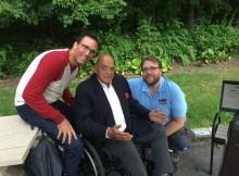 Bertrand Hébert et moi-même lors de notre dernière rencontre avec Frenchy.