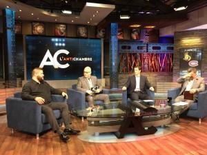Owens a fait plusieurs entrevues en marge du spectacle de vendredi, dont l'Antichambre à RDS