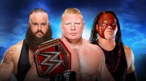 Strowman vs Lesnar vs Kane