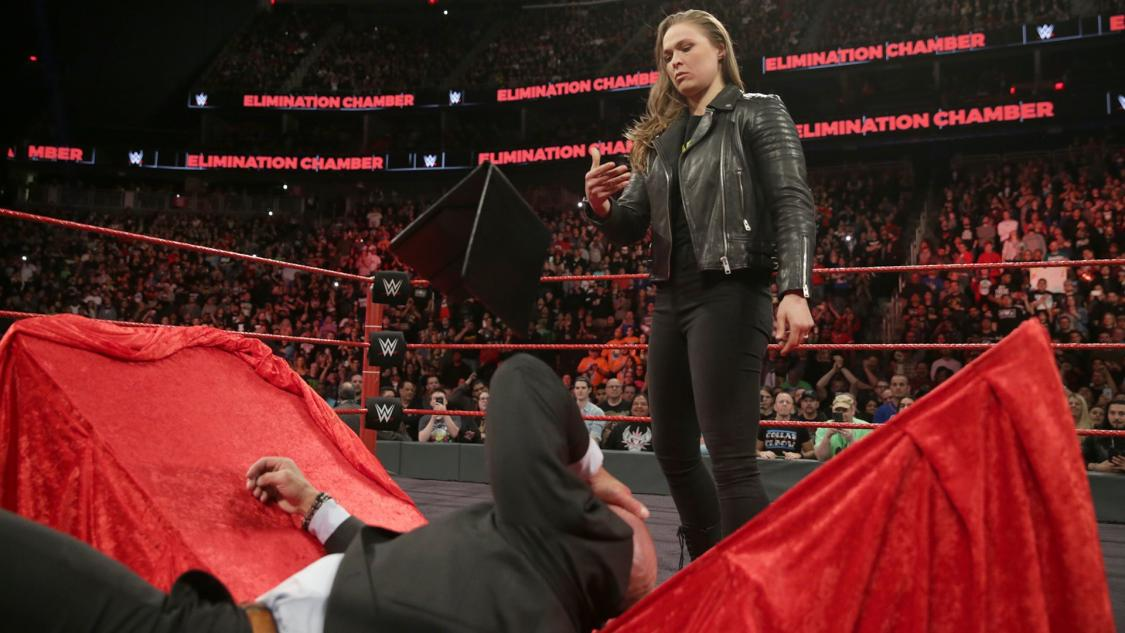 ronda-rousey-triple-h-elimination-chamber