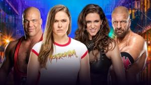 Angle & Rousey vs McMahon & Triple H
