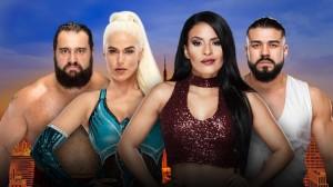 Rusev & Lana vs Vega & Almas