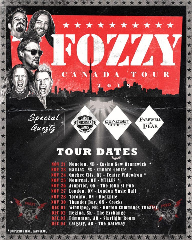 Tournée Canada 2018