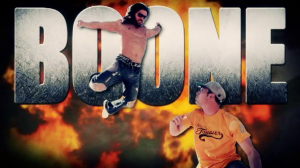 Boone c'est une télé-réalité qui sur-américanise l'Amérique. Des muscles, des explosions, des chars pis de la violence.
