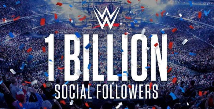1 milliard wwe medias sociaux