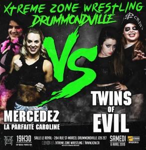 Mercedez et La Parfaite Caroline c. Twins of Evil