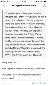 Ronda's whole statement