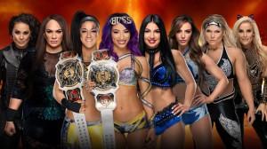 Tamina & Jax vs Bayley & Banks vs IIconics vs Phoenix & Natalya