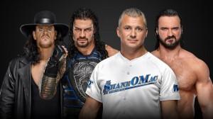 The Undertaker et Roman Reigns c. Shane McMahon et Drew McIntyre