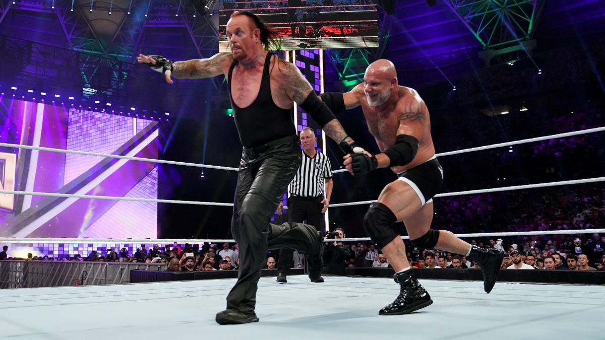 goldberg the undertaker super showdown