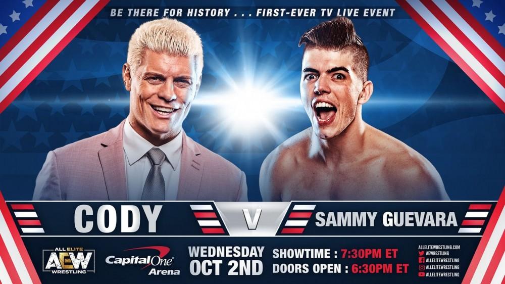 AEW on TNT combat inaugural ''The American Nightmare'' Cody c. Sammy Guevara