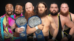New Day c. Daniel Bryan et Rowan c. Heavy Machinery