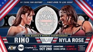 Championnat féminin AEW Riho c. Nyla Rose