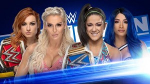 Becky Lynch et Charlotte Flair c. Bayley et Sasha Banks