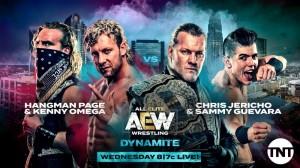 2019-11-06 Hangman Page et Kenny Omega c. Chris Jericho et Sammy Guevara