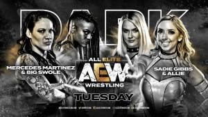 AEW Dark Mercedes Martinez et Big Swole c. Sadie Gibbs et Allie