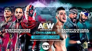 2019-12-04 Dustin Rhodes et Young Bucks c. Sammy Guevara et Proud-N-Powerful