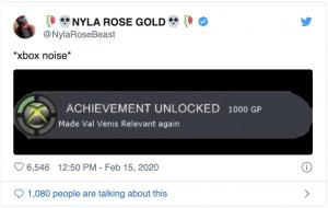 Tweet de Nyla Rose