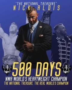 Nick Aldis 500 days