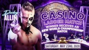 2020-05-23 Darby Allin combat d'échelle Casino