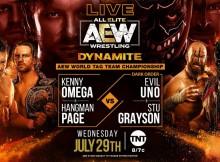 2020-07-29 Kenny Omega et Adam Page c. Dark Order - championnat du monde par équipe AEW