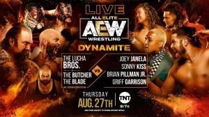 2020-08-27 Lucha Bros. et The Butcher and The Blade c. Joey Janela, Sonny Kiss, Brian Pillman, Jr. et Griff Garrison