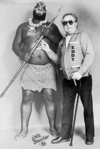 Kamala et son gérant à Montréal, Eddy «The Brain» Creatchman