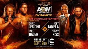 2020-09-09 Chris Jericho et Jake Hager c. Joey Janela et Sonny Kiss