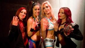 Les Four Horsewomen de la WWE, 4 des 5 premières