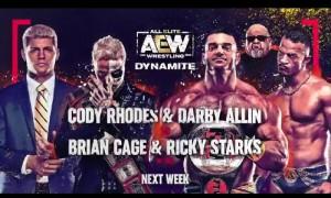2020-11-18 Cody Rhodes et Darby Allin c. Team Taaz