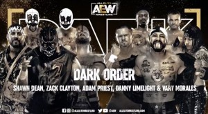 2021-01-12 Dark Order c. Shawn Dean, Zack Clayton, Adam Priest, Danny Limelight et Vary Morales