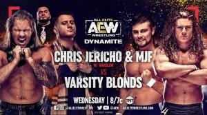2021-01-27 Chris Jericho et MJF c. Varsity Blondes