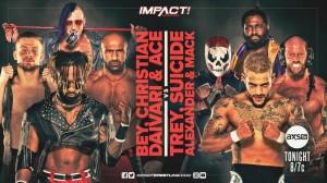 2021-02-09 Ace Austin, Blake Christian, Chris Bey et Shawn Daivari c. Josh Alexander, Suicide, Trey et Willie Mack