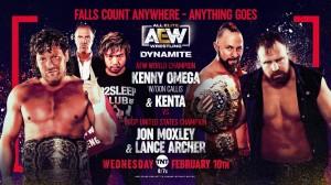 2021-02-10 Kenny Omega et KENTA c. Jon Moxley et Lance Archer