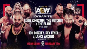 2021-02-17 Eddie Kingston et The Butcher & The Blade c. Jon Moxley, Rey Fénix et Lance Archer