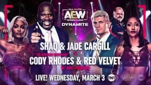 2021-03-03 Shaq et Jade Cargill c. Cody Rhodes et Red Velvet