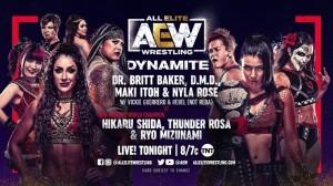 2021-03-10 Britt Baker, Maki Itoh et Nyla Rose c. Shida, Ryo Mizunami et Thunder Rosa