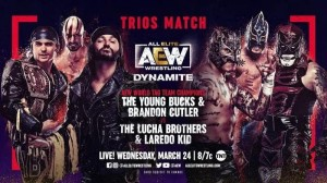2021-03-24 Young Bucks et Brandon Cutler c. Lucha Bros. et Laredo Kid