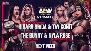 2021-03-31 Hikaru Shida et Tay Conti c. The Bunny et Nyla Rose