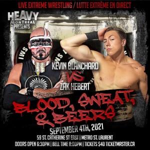 Zak affrontera Kevin Blanchard au premier spectacle de lutte à Montréal depuis mars 2020, organisé par l'IWS